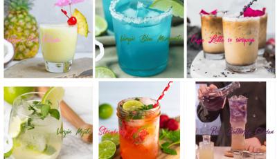 letne drinky, recept na limonadu, recepty na letne drinky, pina colada virgin recept, mojito virgin recept, virgin margeritha recept